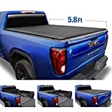 Tyger Auto Black T1 Soft Roll Up Truck Tonneau Cover for 2019-2020 Chevy Silverado/GMC Sierra 1500 New Body Style Fleetside 5.8' Bed TG-BC1C9053