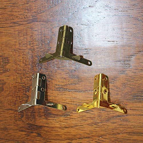 30 * 33MM 100 Uds bisagras de caja de madera de regalo bisagra de resorte de soporte de bronce antiguo para caja de madera bisagra pequeña bisagra de plata y oro