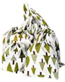 Reusable Produce Bags/Christmas Gift Bags 6-Piece Set (3 Large Tree Bags, 2 Small Tree Bag,1 Shopping Bag) Linen Cotton | Transport, Store & Organize Fruits and Vegetables, Washable, Durable Eco Bag