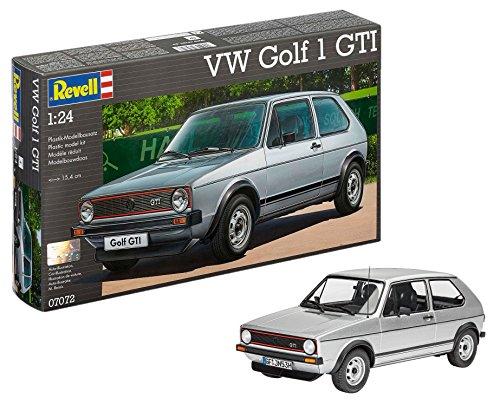 Revell Ag (Germany) RV07072 Revell Modellbausatz Auto 1:24 - Volkswagen VW Golf 1 GTI im Maßstab 1:24, Level 4, originalgetreue Nachbildung mit vielen Details, 07072