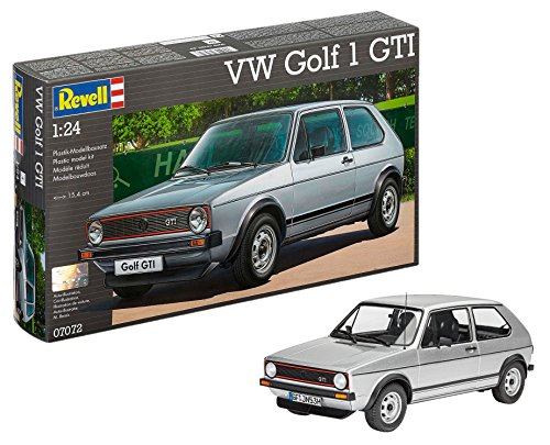 Revell Golf 1 GTI Volkswagen VW Maqueta Coche, Color Plata (07072)