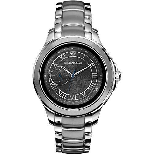 Emporio Armani heren-smartwatch met roestvrij stalen armband ART5010