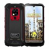 CONQUEST Smartphone Resistente, ATEX Zone 1/2 Intrínsecamente Seguro IP68 a Prueba de explosiones 4G de Doble Tarjeta 48MP Cámara Triple AI 8 + 256GB Teléfono móvil Desbloqueado (Rojo, 128GB)