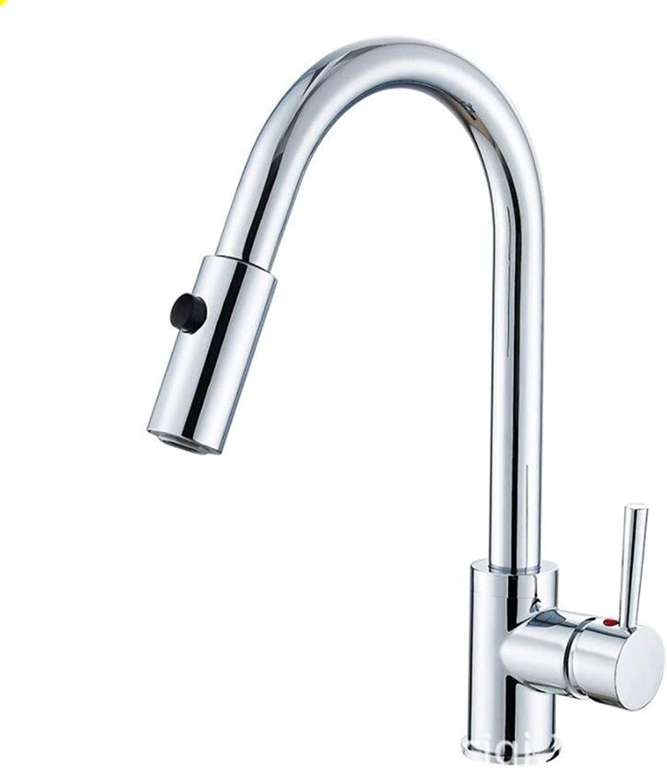 Bathroom Sink Basin Lever Mixer Tap Draw-Type Washbasin Faucet Kitchen Sink Cold and Hot Pull Faucet