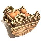 Huevera Rústica de Madera de Pino- Porta Huevos para Cocina - Artesanal y Hecho...