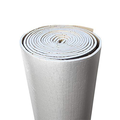 XIAOBAI Papel de Aluminio de 6mm de Espesor + silenciador de algodón para Coche, Interior, Aislamiento acústico, Estera de amortiguación insonorizada-200cm*50cm
