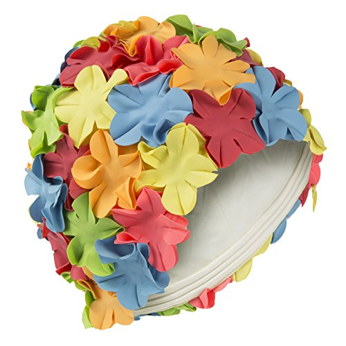 Fashy Da piscina, stile vintage Swim cuffia da bagno multi colore fiore petalo (multicolore)