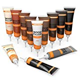 NADAMOO Wood Filler Furniture Repair Kit Wood Scratch Repair Furniture Touch Up Kit Cover Surface Scratch for Wooden Floor Table Door Cabinet Veneer, 12 Dark Color Kit Black White Gray Oak Maple