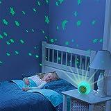 Kids Alarm Clock, 7 Color Changing Night Light,Moon Stars Projector Alarm Clock, Snooze,...
