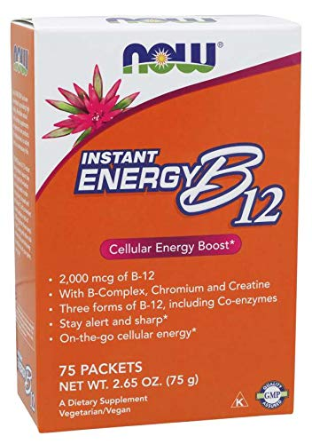 Now Foods Instant Energy B-12, 75 Packets (Pack of 2)