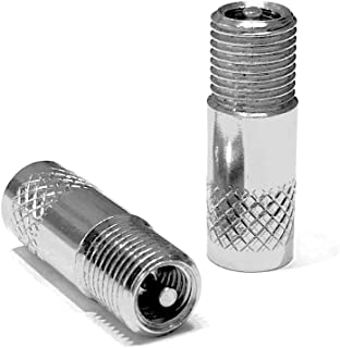 RideAir ConvertAir (Pair) Presta to Schrader Converter (not Adapter) Change Your Tube or tubeless Valve to Schrader Easily - for Presta Removable Core