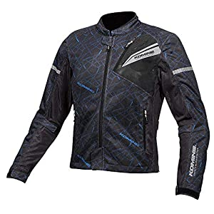 コミネ(KOMINE) バイク用 プロテクトフルメッシュジャケット Crush Blue/Blac XL JK-140 1219 春夏向け CE規格レベル2 メッシュ素材 プロテクター