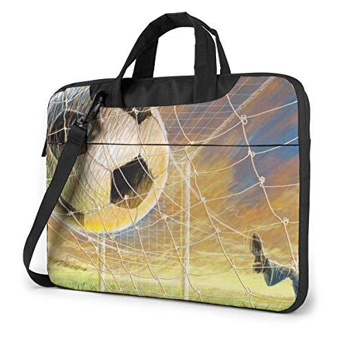 Lawenp Laptop Case Computer Bag Sleeve Cover Football Post Kick Waterproof Shoulder Briefcase 13 14 15.6 Inch
