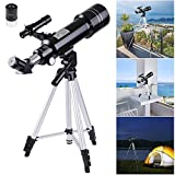 AW 70mm Astronomical Refractor Telescope Refractive Spotting Scope Eyepieces Tripod Kids Beginners