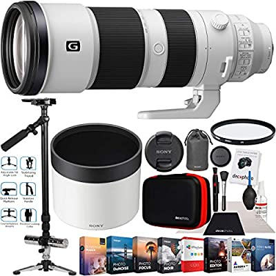 "Sony FE 200-600mm F5.6-6.3 G OSS Lens Super Telephoto Zoom Full Frame SEL200600G Filmmaker's Bundle with Vivitar ST-6000 59"" Stabilizer Telescopic Tripod + UV Filter + Software Kit and Accessories from Sony"
