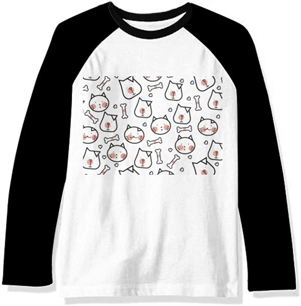 Cat Dog Bone OFFicial mail order Protect Animal Pet Sleeve Top Lover Ranking TOP20 Long Raglan T-S