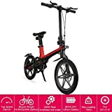 16' New Foldable Electric Mountain Bike 200W with Removable 36V 5.2AH Lithium-Ion Battery Beach Snow Bicycle Ebike