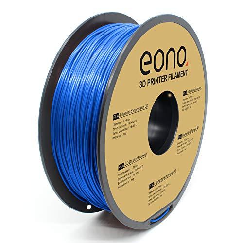 Amazon Brand - Eono PLA 3D Printer Filament, 1.75mm, Blue,1kg, Strong Bonding and Overhang Performance.