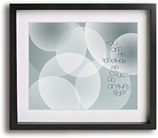 You And Me by Dave Matthews Band inspired song lyric art print, anniversary or wedding gift idea