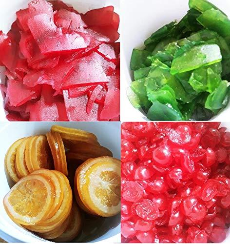 Roscón de Reyes Fruta Escarchada Decoración 1000 grs - Panettone Italiano Fruta 1 kg -Fruta Confitada en Formato de Cubo