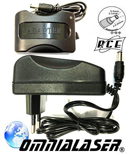 OmniaLaser Alimentatore RCE 12V2A Switching AC-Adapter DC 12V 2A 24W per Telecamera di videosorveglianza o Striscia LED RGB