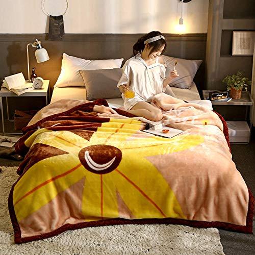 ROZIA Raschel blanket quilt-150 * 200 5 kg_14,Fluffy blanket,