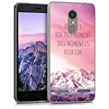 kwmobile Hülle kompatibel mit Lenovo K6 - Handyhülle - Handy Hülle Be Happy Moment Rosa Violett Koralle