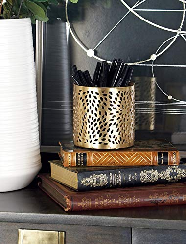 Deco 79 57413 Pencil Holder, Gold