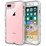 iPhone 8 Plus Case, iPhone 7 Plus Case, Anuck Crystal Clear 3 in 1 Heavy Duty Defender Shockproof Full-Body Protective Case Hard PC Shell & Soft TPU Bumper Cover for iPhone 7 Plus/8 Plus 5.5' - Clear