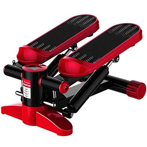 RLF LF Elliptische Trainingsmaschinen Mit Zugseil, Super Sound-Off Zuhause An Ort Und Stelle Bewegung Stepper Fitness Hydraulische Puffer-In-Situ-Pedalmaschine,Rot