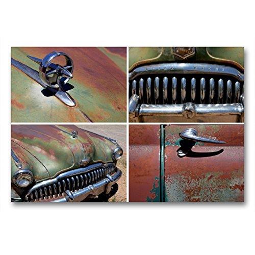 Premium Textil-Leinwand 90 x 60 cm Quer-Format Buick Eight, Bj.1949, Bluff, Utah, USA | Wandbild, HD-Bild auf Keilrahmen, Fertigbild auf hochwertigem Vlies, Leinwanddruck von Rainer Grosskopf