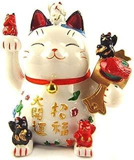 Betterdecor Feng Shui Maneki Neko Lucky Cat Coin Bank for Wealth (with a Logo Gift Bag)