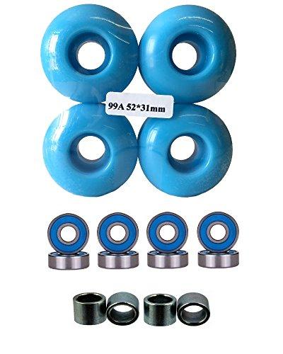 Everland 52mm Wheels w/Bearings & Spacers (Baby Blue)