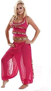 MissBellyDance Harem Pants & Halter Top Belly Dancer Costume Set   Sadiqa II - CS12