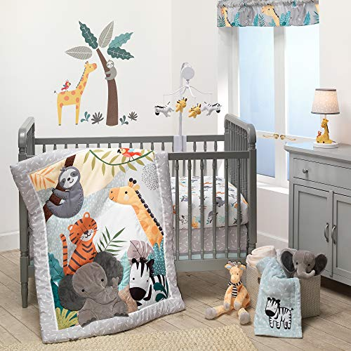 Bedtime Originals Mighty Jungle 3Piece Crib Bedding Set, Multicolor (283003V)