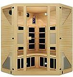 JNH Lifestyles NE4CHB1 ENSI 2 to 3 Person Corner NO EMF Infrared Sauna, review plus buy at low price