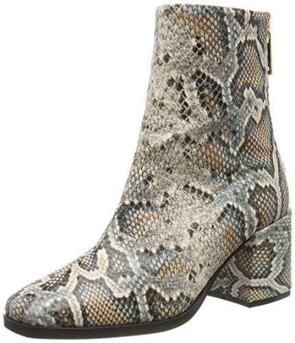 SCOTCH & SODA FOOTWEAR Damen Florence Biker Boots, Mehrfarbig (Snakeskin Bro.Optics S451), 40 EU