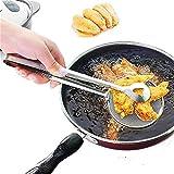 Colino frittura - Rete Multiuso - schiumarola - mestolo per frittura con Pinza - Visto in TV - Idea Regalo Natale e Compleanno