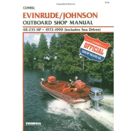 CLYMER 140 HP EVINRUDE JOHNSON OUTBOARD MOTOR SHOP REPAIR SERVICE