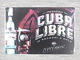 None Brand Cuba Libre Bacardi Rum Cocktail Blechschild