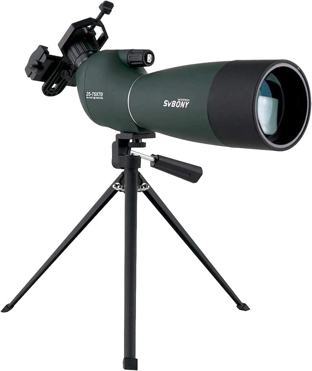 SVBONY Spotting Scope Telescope 25-75x70mm Bird Scopes Review