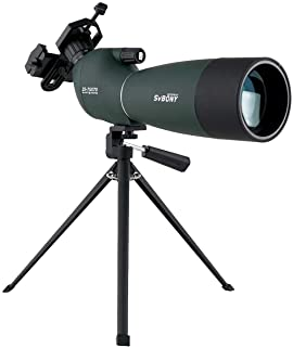 SVBONY SV28 Spotting Scope Telescope 25-75x70mm Zoom Spotting Scope with Bak4 Prism for Target Shooting Bird Watching with...