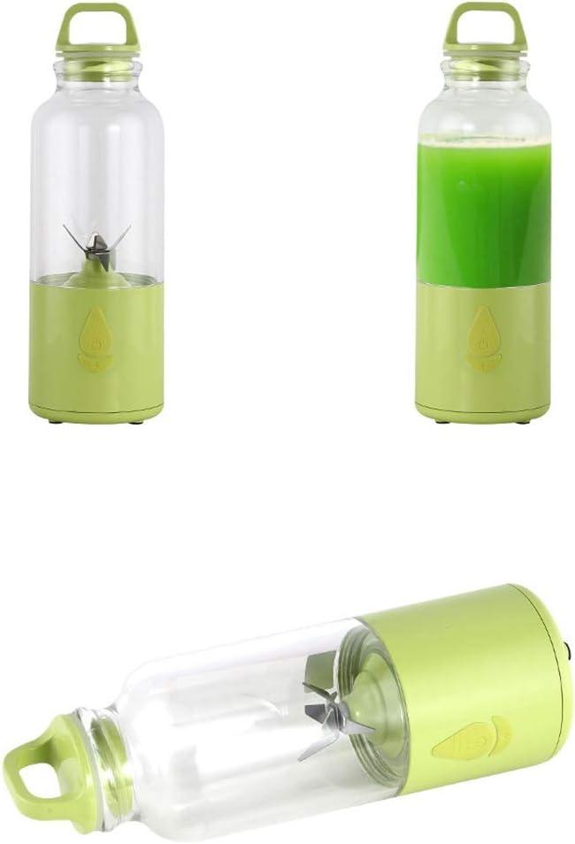 LI_HUA Blender Fruit Juicer Mixer Mini Juicer Cup Draagbare Smoothie Maker Fruit Extractor Machine Huishoudelijke Outdoor USB Oplaadbare 6 Blades Blauw