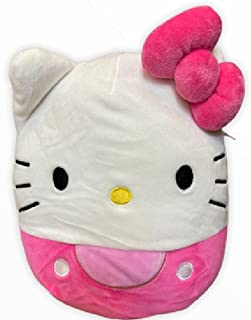 Squishmallow Official Kellytoy Sanrio Hello Kitty 8 Inch Squishy Plush Toy Animal (Hello Kitty Pink)