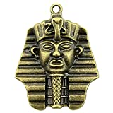 NEWME 10pcs Egyptian Pharaoh Charms Pendant for DIY Jewelry Wholesale Crafting Bracelet Necklace Making (Antique Bronze)