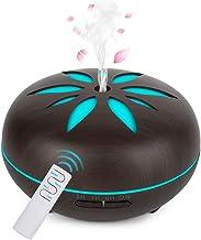GeeRic Aroma Diffuser 550ml luchtbevochtiger ultrasone vernevelaar, luchtbevochtiger aromatherapie oliën geurlamp met 7 kl...