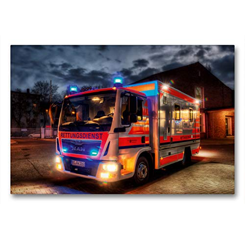 CALVENDO Premium Textil-Leinwand 90 x 60 cm Quer-Format Sonderrettungswagen (S-RTW), Leinwanddruck von Markus Will