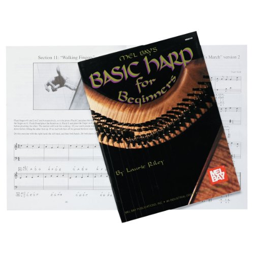 Design Toscano Basic Harp for Beginners Instruction Book, 77 Pages, ,