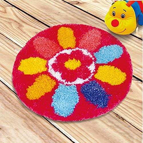 Gancho kit alfombra alfombra alfombra bordado ganchillo ganchillo ganchillo,pestillo de costura,patrones de hilo de lona artesanal,estera de cojín ganchillo for sofá Cojín y entrada de sala de estar