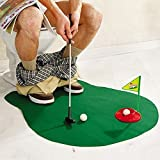 Toilet Mini Golf Potty Putter Bathroom Game Novelty Putting Gift Toy Trainer Set by zizzi